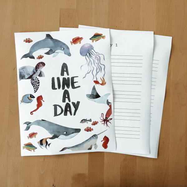 A Line a Day Journal - printable daily journals for kids and mom, great memory keepers!