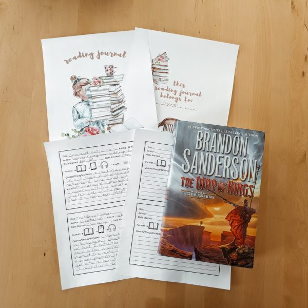 Printable Reading Journal for Adults - the perfect way to keep a record of all the books you read!