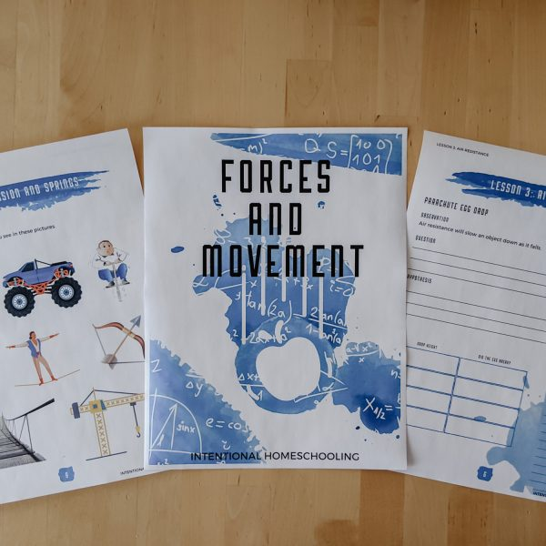 Forces and Movement Science Study for Elementary - a great science unit for ages 6-12