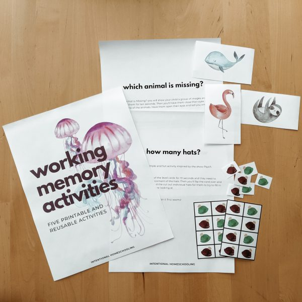 Working Memory Printable and Reusable Activities for Elementary and Middle Grades to Improve Working Memory