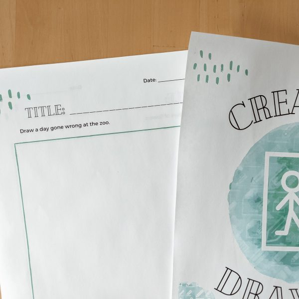 Creative Drawing Journal - 50 drawing prompts are included in this journal for kids