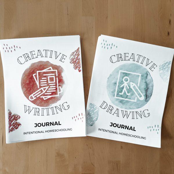 Creative Journals Bundle - includes the Creative Writing Journal and Creative Drawing Journal for kids