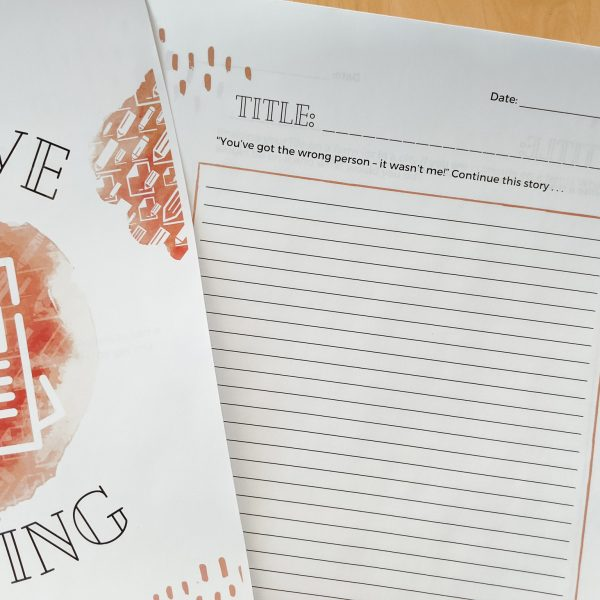 Creative Writing Journal - over 50 writing prompts are included in this journal for kids
