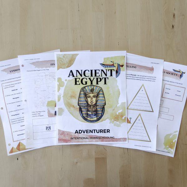 Ancient Egypt Unit Study - printable unit study for grades 1-6
